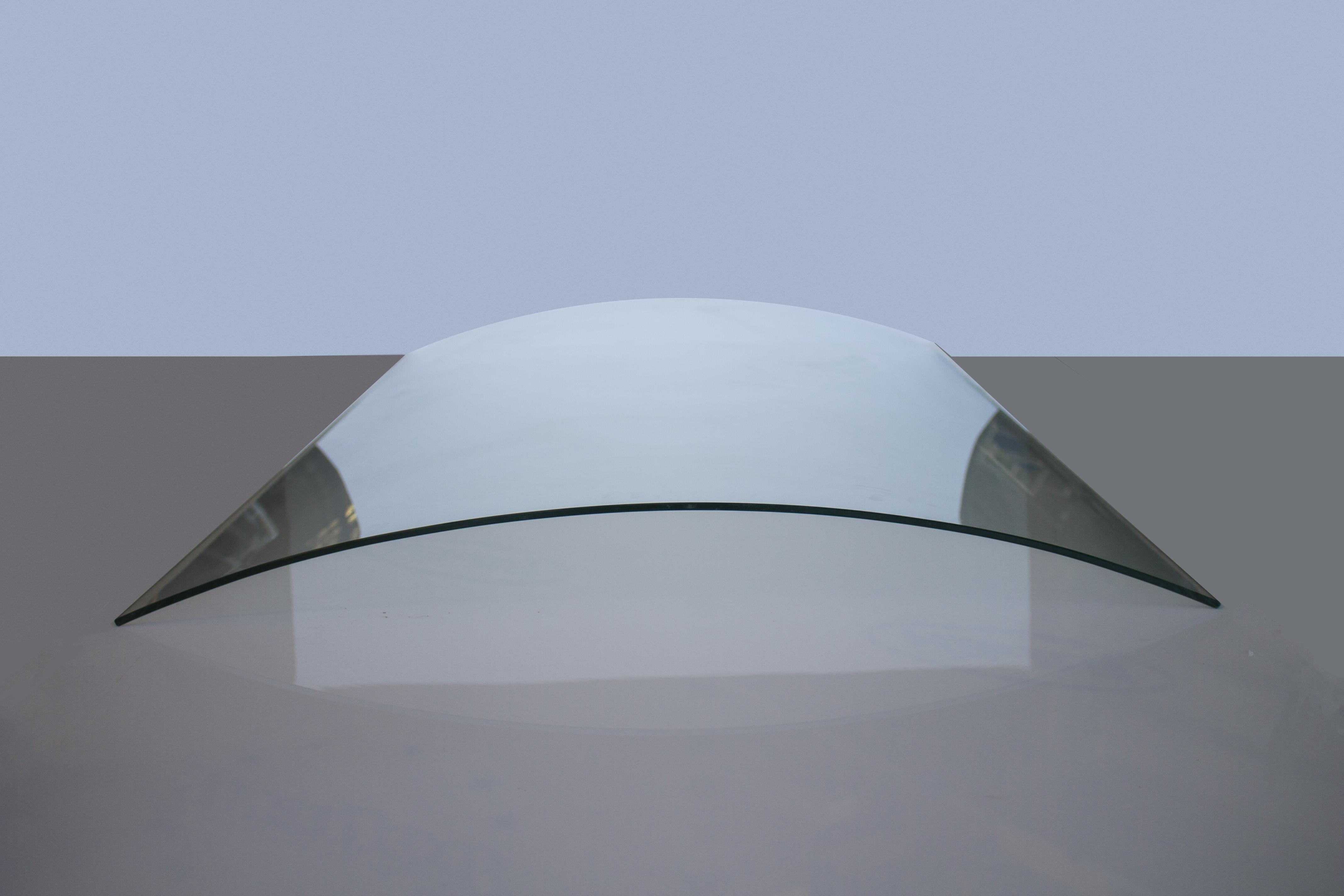 Imagen de vidrio templado curvo sin fondo