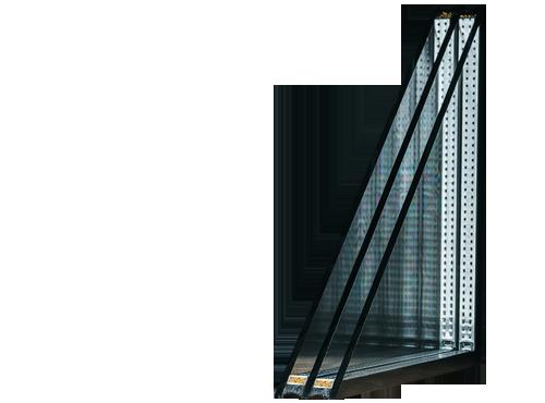 Imagen de doble y triple acristalamiento aislante